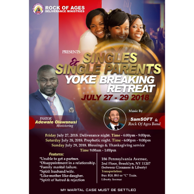 Singles and Single Parents Yoke Breaking Retreat