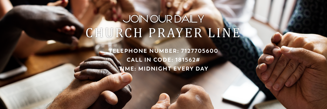 Join our Church Prayer Line at Rock of Ages Ministries, New York