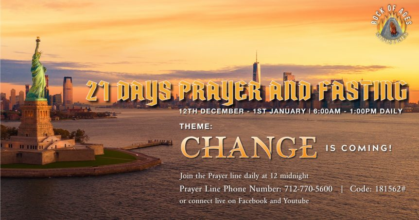 Change is Coming Prayer and Fasting Session
