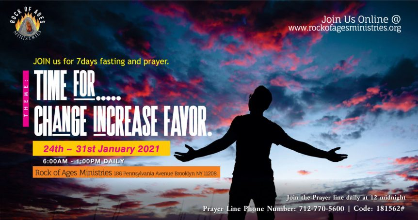 Time for Change Increase and Favor Prayer and Fasting Session at Rock of Ages Ministries New York