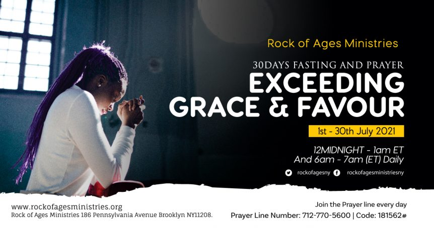 Rock of Ages Ministries New York 30-Day Prayer and Fasting Session in July 2021